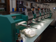 Embroidery Machinery at Prestige Graphic in Middletown, NY