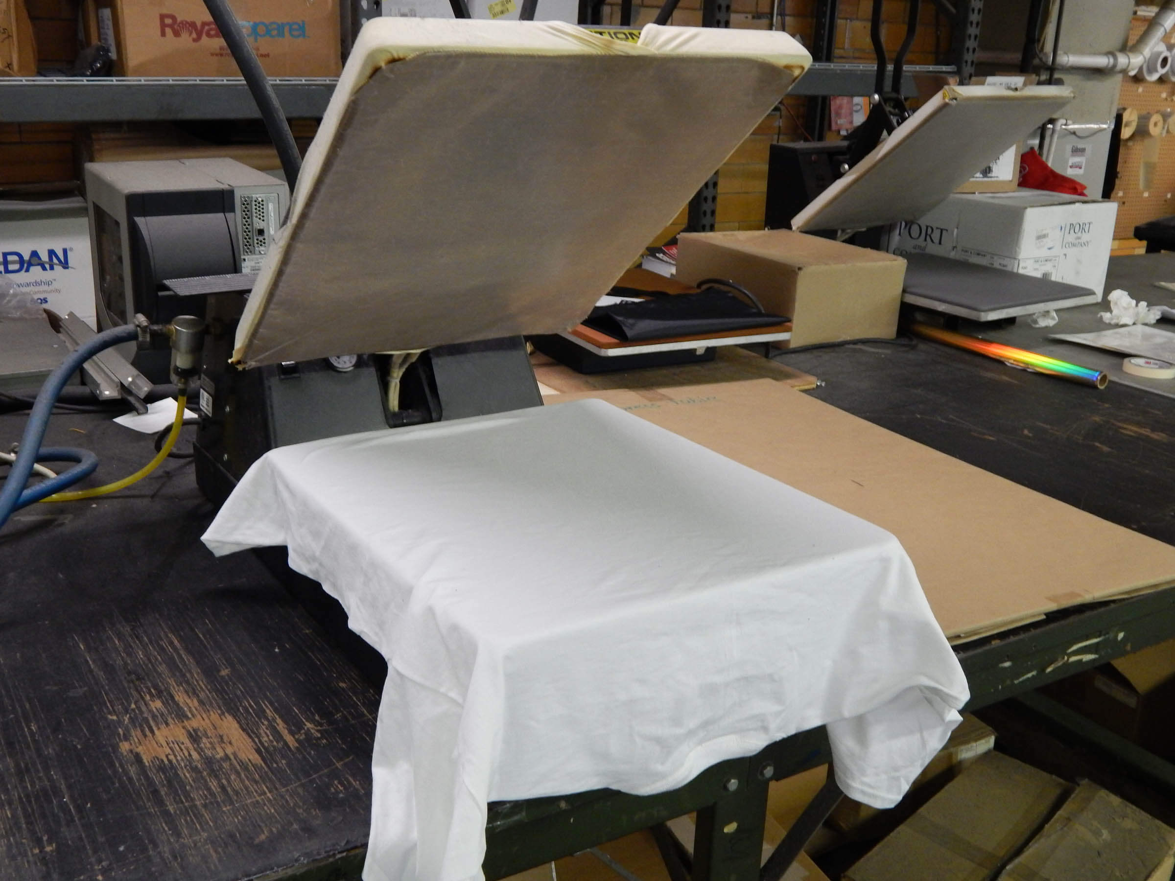 Screen Printing Materials at Prestige Graphic in Middletown, NY